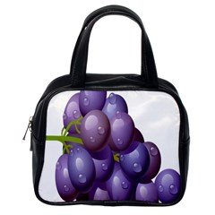 Grape Fruit Classic Handbags (one Side) by Mariart