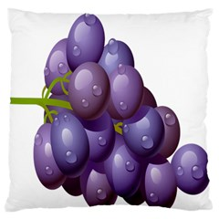 Grape Fruit Large Flano Cushion Case (one Side) by Mariart
