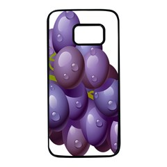 Grape Fruit Samsung Galaxy S7 Black Seamless Case by Mariart