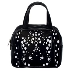 Helmet Original Diffuse Black White Space Classic Handbags (one Side) by Mariart