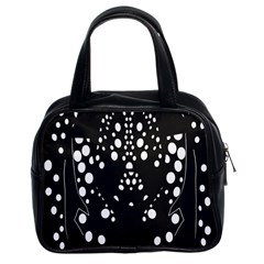 Helmet Original Diffuse Black White Space Classic Handbags (2 Sides) by Mariart