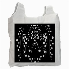 Helmet Original Diffuse Black White Space Recycle Bag (two Side)  by Mariart