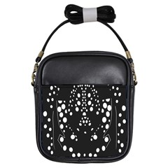 Helmet Original Diffuse Black White Space Girls Sling Bags by Mariart