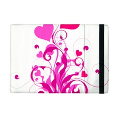Heart Flourish Pink Valentine Ipad Mini 2 Flip Cases by Mariart