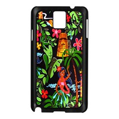 Hawaiian Girls Black Flower Floral Summer Samsung Galaxy Note 3 N9005 Case (black) by Mariart