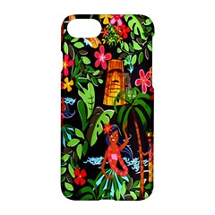 Hawaiian Girls Black Flower Floral Summer Apple Iphone 7 Hardshell Case by Mariart