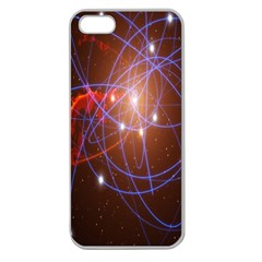 Highest Resolution Version Space Net Apple Seamless Iphone 5 Case (clear) by Mariart