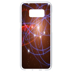 Highest Resolution Version Space Net Samsung Galaxy S8 White Seamless Case by Mariart