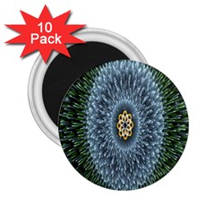 Hipnotic Star Space White Green 2 25  Magnets (10 Pack)  by Mariart