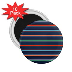 Horizontal Line Blue Green 2 25  Magnets (10 Pack)  by Mariart