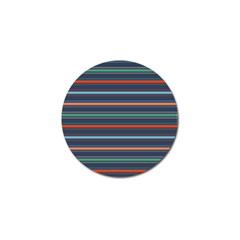 Horizontal Line Blue Green Golf Ball Marker by Mariart