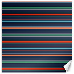 Horizontal Line Blue Green Canvas 12  X 12   by Mariart