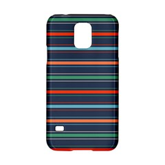 Horizontal Line Blue Green Samsung Galaxy S5 Hardshell Case  by Mariart