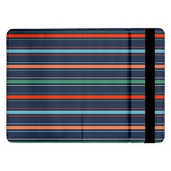 Horizontal Line Blue Green Samsung Galaxy Tab Pro 12 2  Flip Case by Mariart