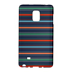 Horizontal Line Blue Green Galaxy Note Edge by Mariart