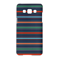 Horizontal Line Blue Green Samsung Galaxy A5 Hardshell Case  by Mariart