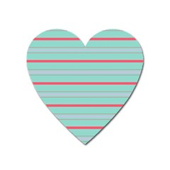 Horizontal Line Blue Red Heart Magnet by Mariart