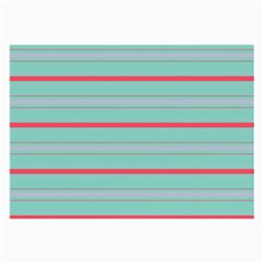 Horizontal Line Blue Red Large Glasses Cloth (2 Side) by Mariart