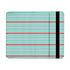 Horizontal Line Blue Red Samsung Galaxy Tab Pro 8 4  Flip Case by Mariart