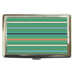 Horizontal Line Green Red Orange Cigarette Money Cases by Mariart