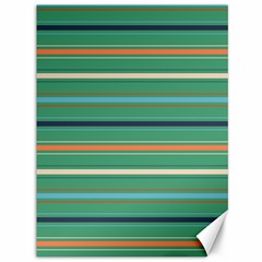 Horizontal Line Green Red Orange Canvas 36  X 48
