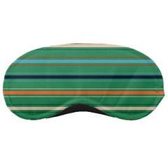 Horizontal Line Green Red Orange Sleeping Masks