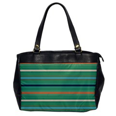 Horizontal Line Green Red Orange Office Handbags by Mariart