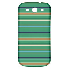 Horizontal Line Green Red Orange Samsung Galaxy S3 S Iii Classic Hardshell Back Case by Mariart