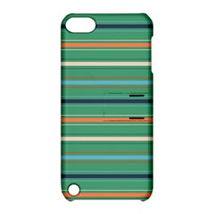 Horizontal Line Green Red Orange Apple Ipod Touch 5 Hardshell Case With Stand by Mariart