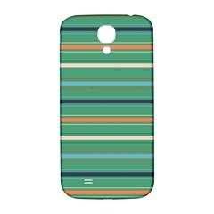 Horizontal Line Green Red Orange Samsung Galaxy S4 I9500/i9505  Hardshell Back Case by Mariart