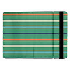 Horizontal Line Green Red Orange Samsung Galaxy Tab Pro 12 2  Flip Case by Mariart