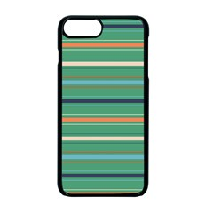 Horizontal Line Green Red Orange Apple Iphone 7 Plus Seamless Case (black) by Mariart