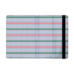 Horizontal Line Green Pink Gray Ipad Mini 2 Flip Cases