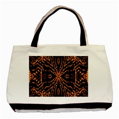 Golden Fire Pattern Polygon Space Basic Tote Bag by Mariart