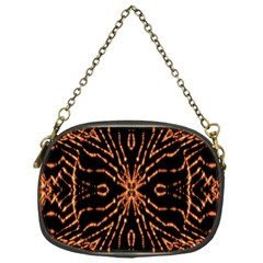 Golden Fire Pattern Polygon Space Chain Purses (one Side)
