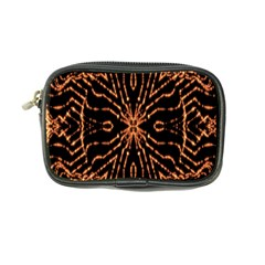 Golden Fire Pattern Polygon Space Coin Purse by Mariart