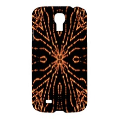 Golden Fire Pattern Polygon Space Samsung Galaxy S4 I9500/i9505 Hardshell Case by Mariart