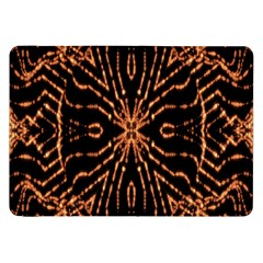 Golden Fire Pattern Polygon Space Samsung Galaxy Tab 8 9  P7300 Flip Case by Mariart
