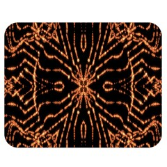 Golden Fire Pattern Polygon Space Double Sided Flano Blanket (medium)  by Mariart