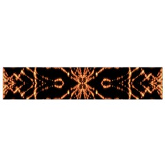 Golden Fire Pattern Polygon Space Flano Scarf (small) by Mariart