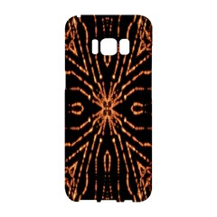 Golden Fire Pattern Polygon Space Samsung Galaxy S8 Hardshell Case  by Mariart