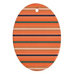 Horizontal Line Orange Ornament (oval) by Mariart