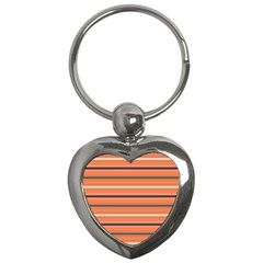 Horizontal Line Orange Key Chains (heart)