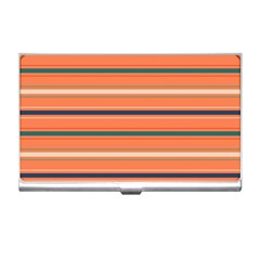 Horizontal Line Orange Business Card Holders by Mariart