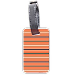 Horizontal Line Orange Luggage Tags (two Sides) by Mariart