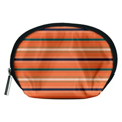 Horizontal Line Orange Accessory Pouches (medium)