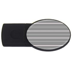 Horizontal Line Grey Pink Usb Flash Drive Oval (2 Gb) by Mariart