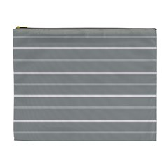 Horizontal Line Grey Pink Cosmetic Bag (xl) by Mariart