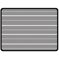 Horizontal Line Grey Pink Fleece Blanket (large)  by Mariart
