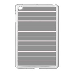 Horizontal Line Grey Pink Apple Ipad Mini Case (white) by Mariart